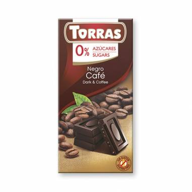 Chocolate Negro Con Cafe Sin Azucar 75g
